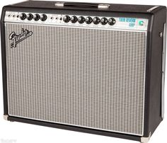 "Fender '68 Custom Twin Reverb®. 1968 merupakan tahun peralihan bagi ampli Fender, dengan nada yang masih murni milik Fender dengan tampilan yang baru.  Dengan panel depan silver dan turquoise berkelas aluminium ""drip edge"" grille cloth trim, Twin Reverb menerima wajah baru yang segar sebagai lini belakang amp pilihan untuk pemain pro dan amatir di mana-mana. Jelas, dalam dan kuat, menghasilkan tube tone besar, dengan Fender reverb dan efek vibrato berkelas dunia."