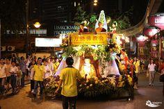 Beautifully decorated float at the Wesak Day (Vesak Day) parade in Kuala Lumpur, Malaysia