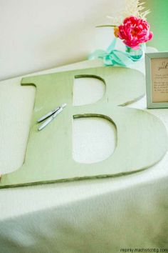 big letter for your guest book