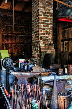$27.00 for a print - great gift idea, many formats and sizes. A blacksmith needs a hot fire, an anvil and, of course, plenty of tools to forge all of that metal.