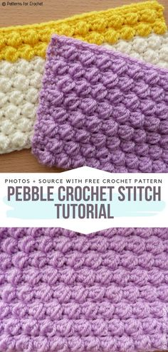 Raised Crochet Stitches Free Patterns Raised Crochet Stitches Free Patterns,Häkeln Pebble Crochet Stitch Tutorial Free Pattern Related posts:- CrochetHow To Size The Perfect Beanie and Master Beanie [Free Crochet Pattern and Tutorial] -. Crochet Stitches For Blankets, Crochet Stitches Free, Tunisian Crochet, Crochet Basics, Free Crochet, Different Crochet Stitches, Needlepoint Stitches, Crochet Simple, Double Crochet