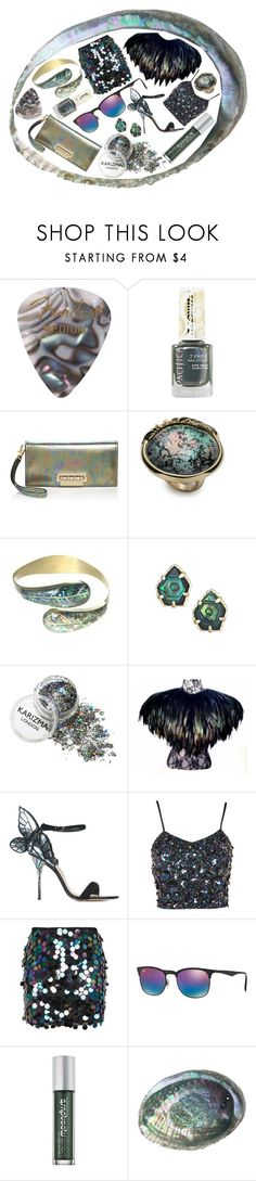 """Leave Me Abalone"" by rachael-aislynn ❤ liked on Polyvore featuring Pacifica, ZAC Zac Posen, Alexis Bittar, Niin, Kendra Scott, Black Swan, Sophia Webster, Lace & Beads, Motel and Ray-Ban"