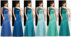 Frozen inspired bridesmaids dresses from Dessy.com