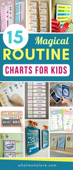 Morning and Bedtime Daily Routine Charts for Kids - perfect for keeping them on a schedule over the summer, for back to school or for starting fresh in the New Year. DIY and printable routine charts to help teach kids independence. Plus more tips, tricks Daily Routine Chart For Kids, Bedtime Routine Chart, Morning Routine Chart, Daily Routine Schedule, Morning Routine Kids, Charts For Kids, Toddler Routine Chart, Bedtime Routine Printable, Bedtime Chart