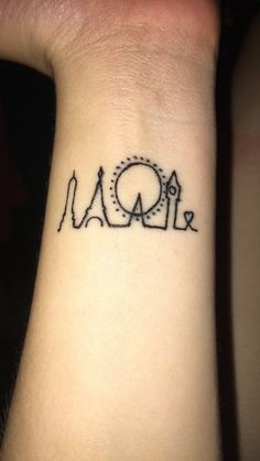 I'm so happy with my very first tattoo.  #firsttattoo #tattoo #paris #love #wristtattoos