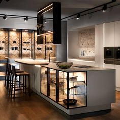 These 4 Living Room Trends for 2019 – Modells. Luxury Kitchen Design, Kitchen Room Design, Modern Kitchen Interiors, Home Room Design, Luxury Kitchens, Home Decor Kitchen, Modern House Design, Interior Design Kitchen, Modern Kitchen Furniture