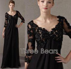 black mother of the bride elegant dresses | Mother of the bride dress Plus Size…