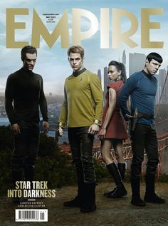 Zoe Saldana, Benedict Cumberbatch, Chris Pine, Zachary Quinto - Empire Magazine Cover [United Kingdom] (May 2013)