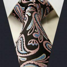 Black / Pink / Blue Paisley Necktie