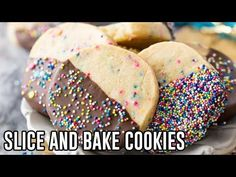 These Slice and Bake Cookies are so simple! Slightly crisp on the outside, buttery-soft on the inside! Recipe includes a tutorial VIDEO. New Recipes, Cookie Recipes, Dessert Recipes, Yummy Recipes, Desserts, Recipies, Spritz Cookies, No Bake Cookies, Sugar Cookies