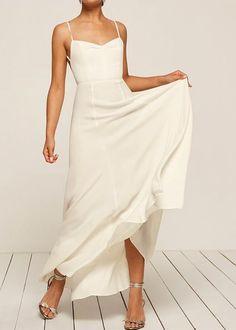 Simple elegant wedding dresses: Reformation Thistle Dress