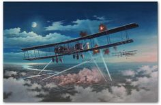 Gothas Over London An original painting by Marii Chernev On the night of 19 May 1918, the Gothas returned to England for the last and large...