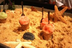 In one of the Lexus grand tasting's inspiring food presentations during L.A. Food & Wine, Big Sur's Post Ranch Inn served mini shaved i...
