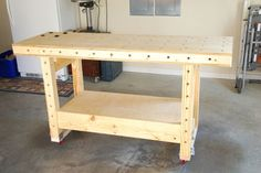 Mobile Torsion Box Workbench Design and Features Building A Workbench, Workbench Plans, Woodworking Workbench, Woodworking Workshop, Woodworking Furniture, Custom Woodworking, Carpentry Tools, Woodworking Store, Easy Woodworking Ideas