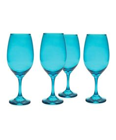 Look at this Blue Moonlight 20-Oz. Wineglass - Set of Four on #zulily today!