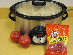 Crock Pot applesauce for Johnny Appleseed Day