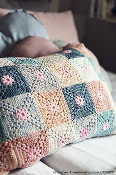 Crochet la funda de almohada para los principiantes.  Conducción + Video