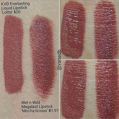 """Kat Von D """"Lolita"""" ($20) Dupe - Wet n Wild """"Mocha-licious"""" ($1.97)"""