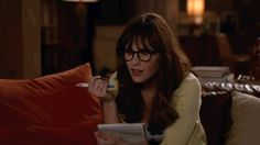 New party member! Tags: comedy fox show new girl zooey deschanel fox tv jess day realization sudden realization