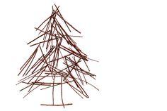 pick-up sticks Christmas tree