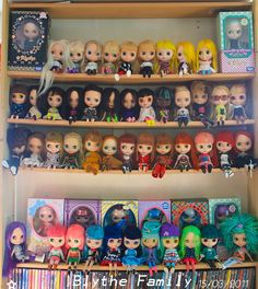 The almost complete range of Blythe dolls