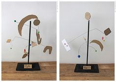 Children's Alexander Calder inspired pieces.