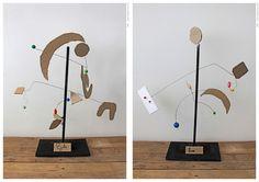 Children's Alexander Calder inspired pieces | modern sculpture for kids | modernist movement | k-8 art class