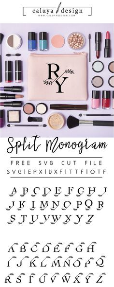 FREE Split Monogram SVG cut file, Printable vector clip art download. Compatible with Cameo Silhouette, Cricut explore and other major cutting machines. 100% for personal use, only $3 for commercial use. Perfect for DIY craft project with Cricut & Cameo Silhouette. Wedding SVG, Wedding monogram, Wedding font, Free dont, free SVG cut file Free DXF file, split monogram, personalized monogram, floral monogram, minimal monogram, letters SVG, Decorative font