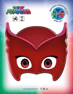 PJ Masks Party Printables Owlette Mask for FREE via Mandy's Party Printables