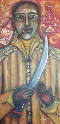 The Works of Hërsza Barjon.  I love this Ogoun!