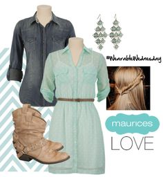 Wearable Wednesday...but maybe instead with cowgirl boots, eh?! <3 =]