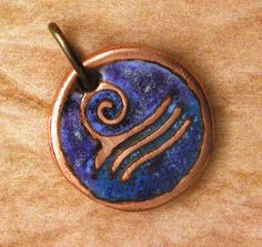 Ocean Wave Enamel Pendant  Handcrafted Vitreous by WildRavenStudio, $18.00