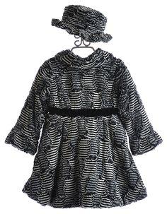 widgeon girls coats black-white