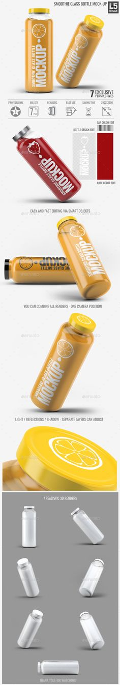 Smoothie Glass Bottle Mock-Up. Download here: http://graphicriver.net/item/smoothie-glass-bottle-mockup/15513642?ref=ksioks