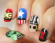 Shizznizzle: NOTD: The Avengers nails