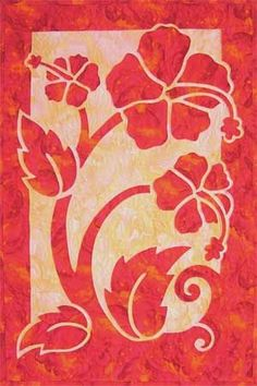 Hibiscus quilt pattern | B_hawaìian quilt | Pinterest | Applique Quilt Patterns, Applique Quilts and Hibiscus
