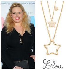 Elżbieta Romanowska, Polish actress knows that stars necklaces suits her look best. #necklaces #stars #bemylilou #jewelry #fashion
