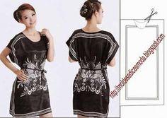 Simple patterns of summer women's clothes Diy Clothing, Sewing Clothes, Clothing Patterns, Dress Patterns, Women's Clothes, Diy Couture, Couture Sewing, Scarf Dress, Diy Dress