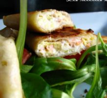 Recette - Samoussas au saumon fumé et au boursin - Proposée par 750 grammes