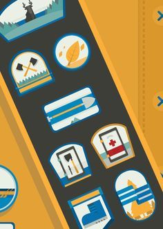 Scout by YouWorkForThem / Flat design illustration / #flat