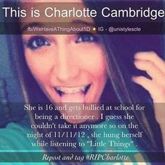 This is SO sad!!! omg!! i care for people !!!!!!! stop bullying!!!!!<<< not a 1D fan but STILL! STOP THE HATE!!!