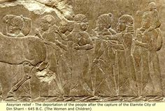 Elamites Depicted in Assyrian Relief