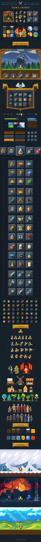 Game UI, Sprytes, Tilesets, Background!