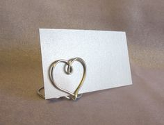 Heart Table Place Card Holders -  SET OF 12 - for Weddings, Anniversaries - Suspended Moments by MySuspendedMoments on Etsy