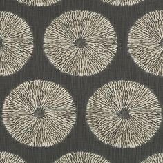 Dark Grey Geometric Upholstery Fabric - Heavyweight Cotton for Furniture - Charcoal Pillow Cushion Covers - Grey Bedding Euro Sham Fabrics