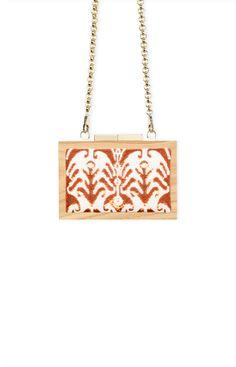 #bag #cluch #wood #fashion #spring #summer #luxury #accessories #orange #LAURAFED