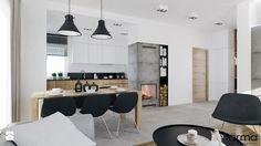 DOM WIELICZKA - Salon z kuchnią z jadalnią, styl nowoczesny - zdjęcie od FORMA - Pracownia Architektury Wnętrz i Krajobrazu