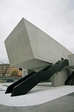 MAXXI Museum - Museo nazionale delle arti del XXI secolo / National Museum of the 21st Century Arts by Zaha Hadid Architects. ROME