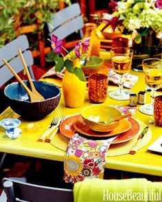 """Go all out for color! It makes the table come alive."" - Sue Fisher King"