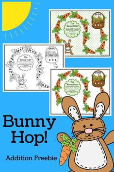 FREE - Addition to 12 game for spring or Easter.  Just print (choose from three options) and play!  Great for kindergarten or first grade math  centers or small groups!